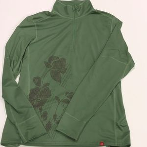 NorthFace~ Green polyester pullover jacket Sz L